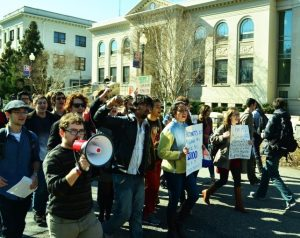 Photo: Katie Figenbaum. 2012 March for Adjunct Faculty at American University in Washington, DC.
