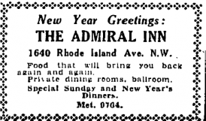 Invitation to the Admiral Inn
