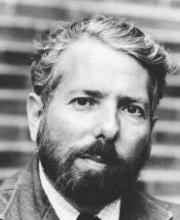 A black and white photograph of Stanley Milgram.